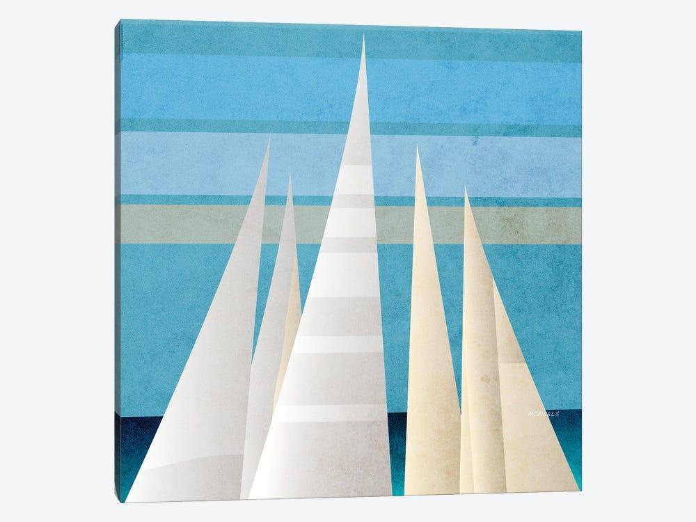 Main Sail Harbor III by Dan Meneely 1-piece Canvas Artwork