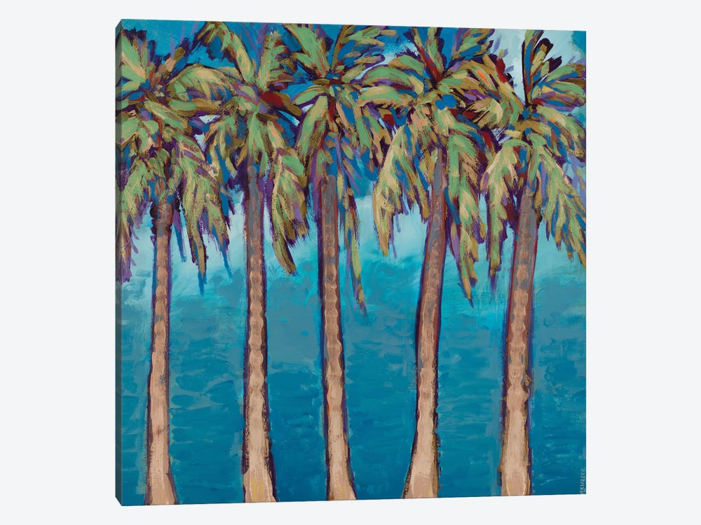 Neutral Palm Trees by Dan Meneely 1-piece Canvas Art Print