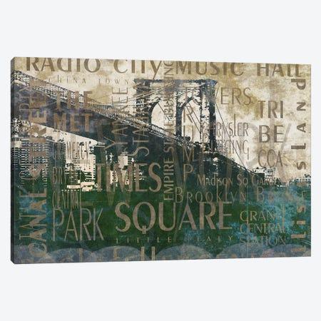 NY Bridge Type I Canvas Print #DAM124} by Dan Meneely Canvas Wall Art