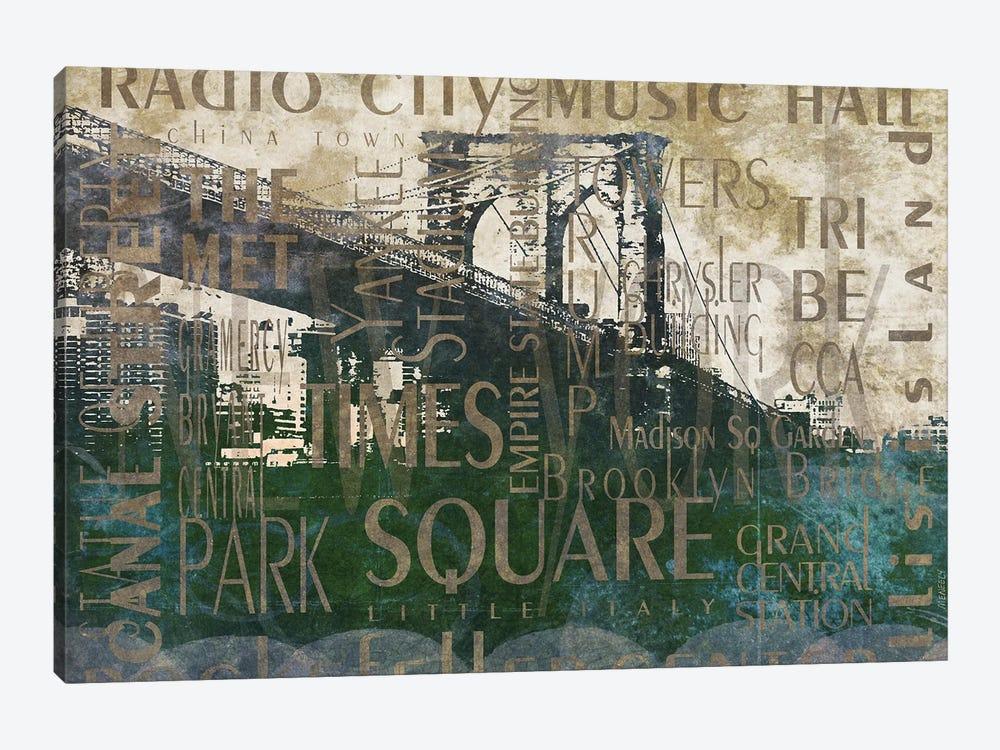 NY Bridge Type I by Dan Meneely 1-piece Canvas Print