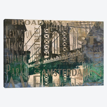 NY Bridge Type II Canvas Print #DAM125} by Dan Meneely Canvas Art