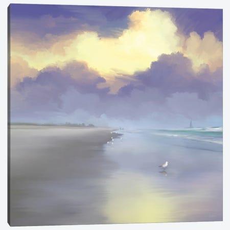 Peaceful Day On The Beach I Canvas Print #DAM134} by Dan Meneely Canvas Art Print