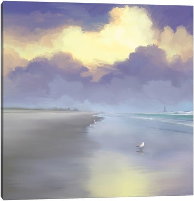 Peaceful Day On The Beach I Canvas Art Print