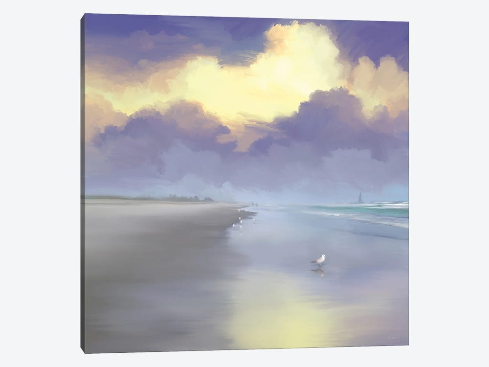 Peaceful Day On The Beach I by Dan Meneely 1-piece Canvas Wall Art