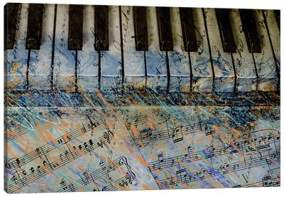 Piano Keys Canvas Art Print