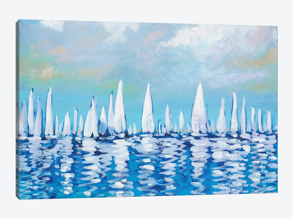 Regatta On The Sea by Dan Meneely 1-piece Canvas Art