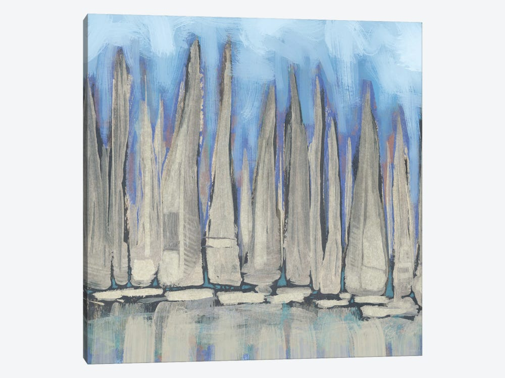 Sailboat Crowd I by Dan Meneely 1-piece Canvas Art