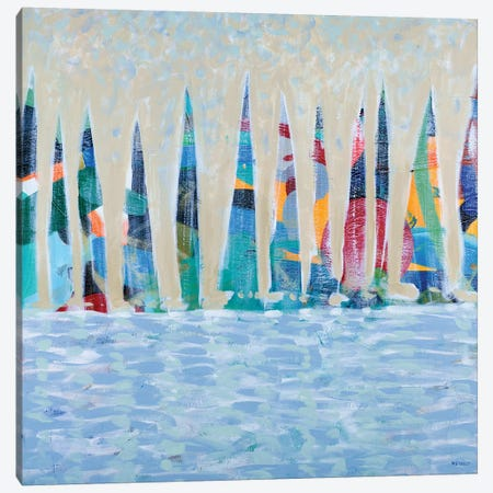 Dozen Colorful Boats Canvas Print #DAM15} by Dan Meneely Canvas Art Print