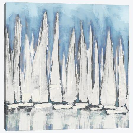 White Sailboat Crowd I Canvas Print #DAM171} by Dan Meneely Canvas Art