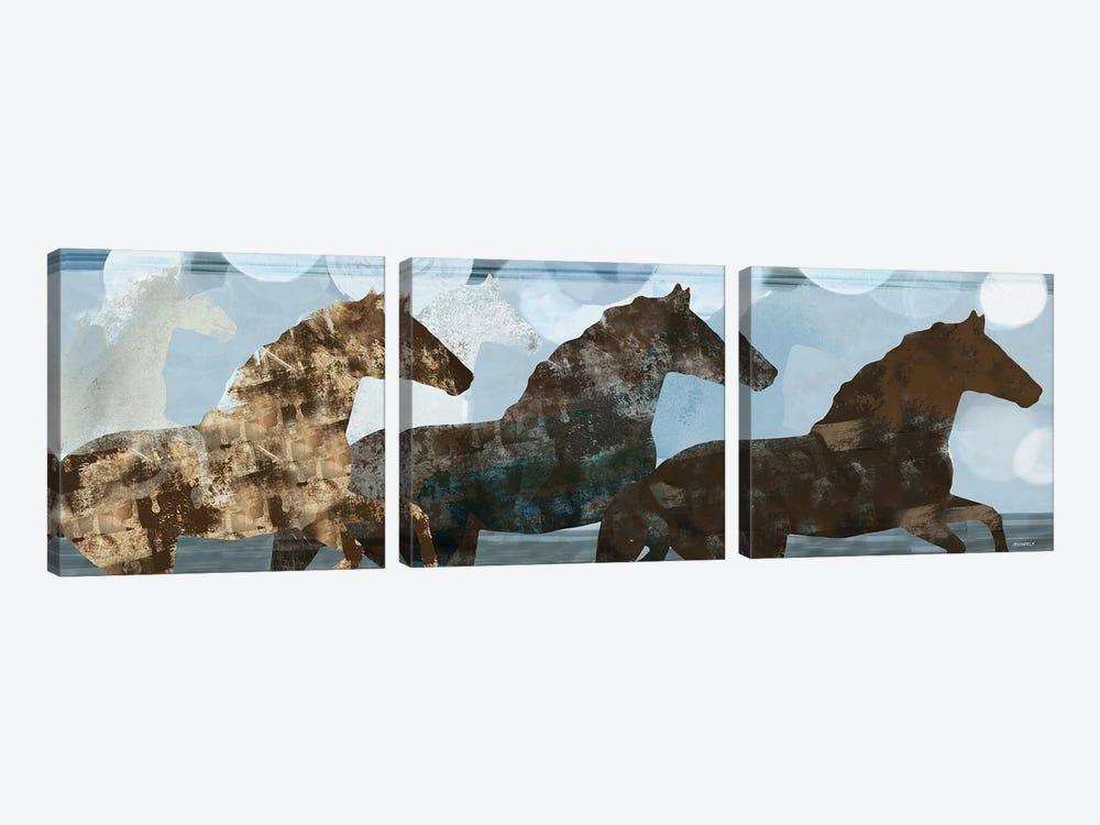 Lively Spirit II by Dan Meneely 3-piece Canvas Wall Art