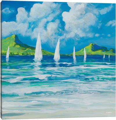 Sail Away Beach I Canvas Art Print