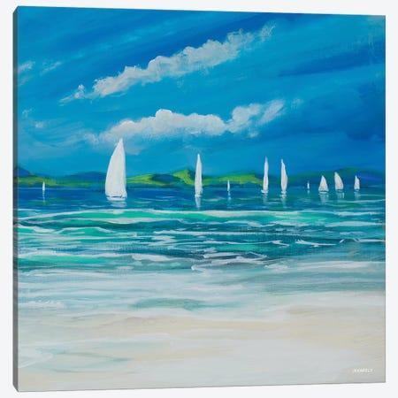 Sail Away Beach II Canvas Print #DAM29} by Dan Meneely Canvas Print