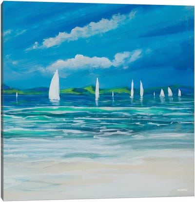 Sail Away Beach II Canvas Art Print