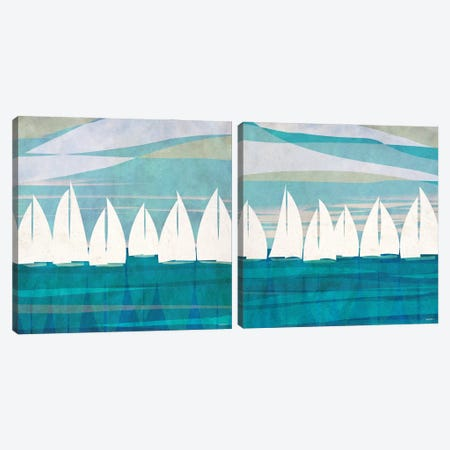 Afternoon Regatta Diptych Canvas Print Set #DAM2HSET001} by Dan Meneely Canvas Art
