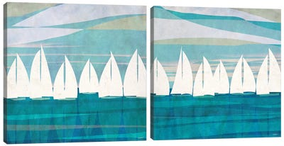 Afternoon Regatta Diptych Canvas Art Print
