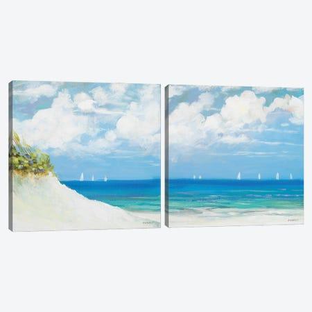 Seaside Diptych Canvas Print Set #DAM2HSET004} by Dan Meneely Canvas Print