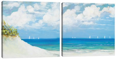 Seaside Diptych Canvas Art Print
