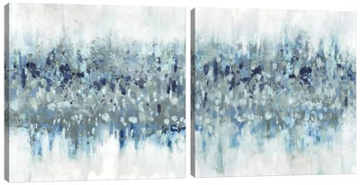 Blue Crossing Diptych Canvas Art Print