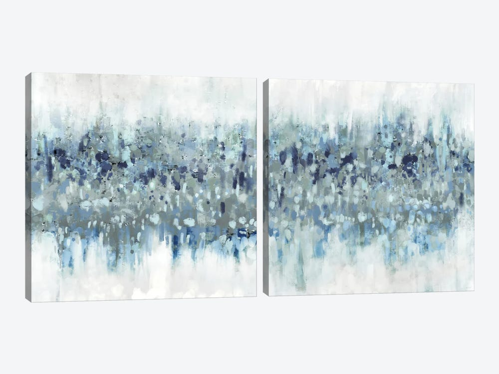 Blue Crossing Diptych by Dan Meneely 2-piece Canvas Wall Art