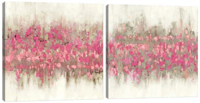 Crossing Abstract Diptych Canvas Art Print