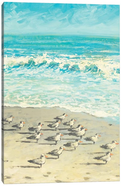 Sandpiper Beach Party Canvas Art Print