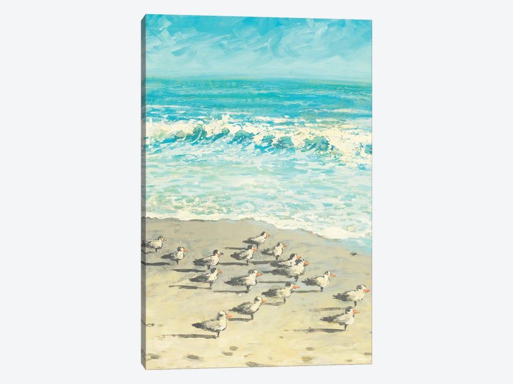 Sandpiper Beach Party by Dan Meneely 1-piece Canvas Print