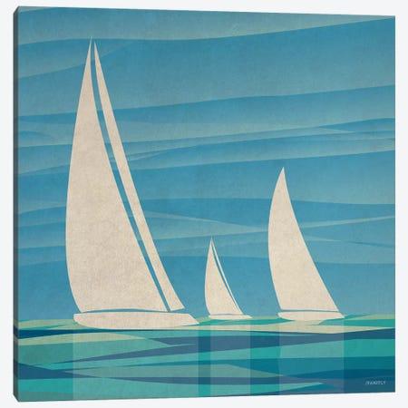Water Journey I 3-Piece Canvas #DAM38} by Dan Meneely Canvas Art