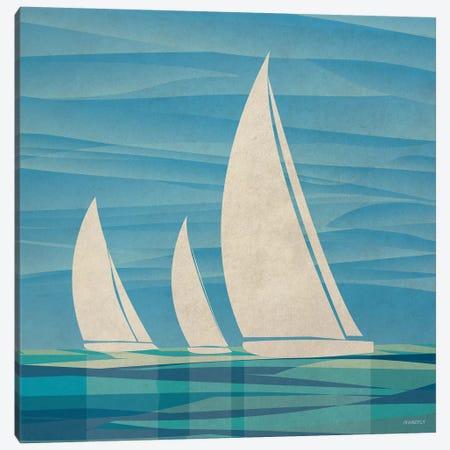 Water Journey II 3-Piece Canvas #DAM39} by Dan Meneely Canvas Art