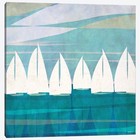 Afternoon Regatta I Canvas Print #DAM40} by Dan Meneely Art Print