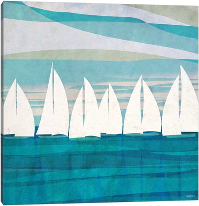 Afternoon Regatta II Canvas Art Print