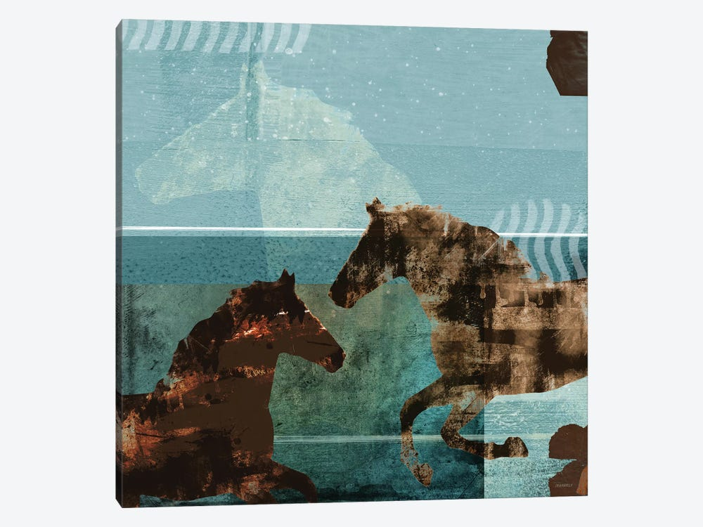 Around The Stable I by Dan Meneely 1-piece Canvas Artwork