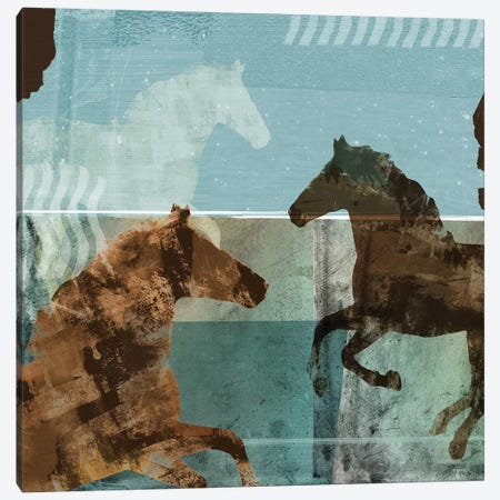 Around The Stable II Canvas Print #DAM43} by Dan Meneely Art Print