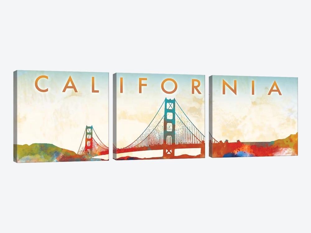 California Golden Gate by Dan Meneely 3-piece Canvas Artwork