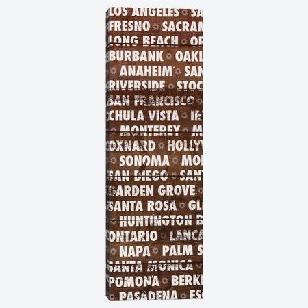 California Wood Type Canvas Print #DAM45} by Dan Meneely Canvas Art
