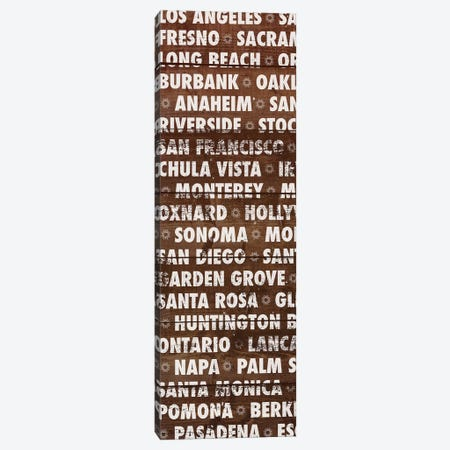 California Wood Type Canvas Print #DAM45} by Dan Meneely Canvas Art