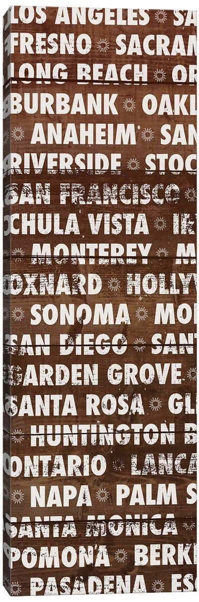 California Wood Type Canvas Art Print