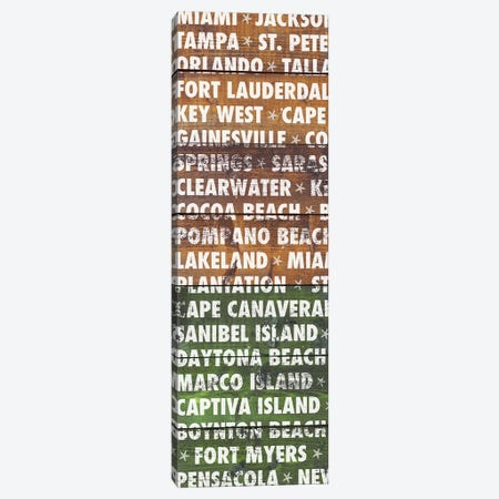 Florida Wood Type Canvas Print #DAM49} by Dan Meneely Canvas Print