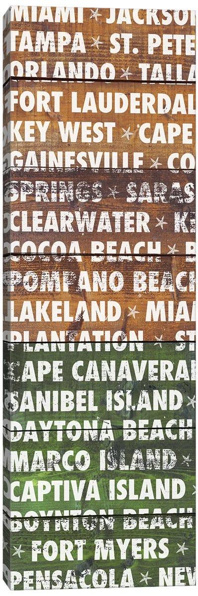 Florida Wood Type Canvas Art Print