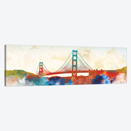 Golden Gate Canvas Print #DAM50} by Dan Meneely Canvas Artwork