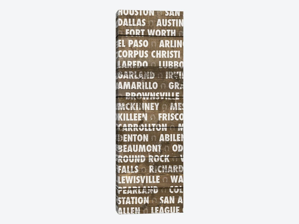 Texas Wood Type by Dan Meneely 1-piece Art Print