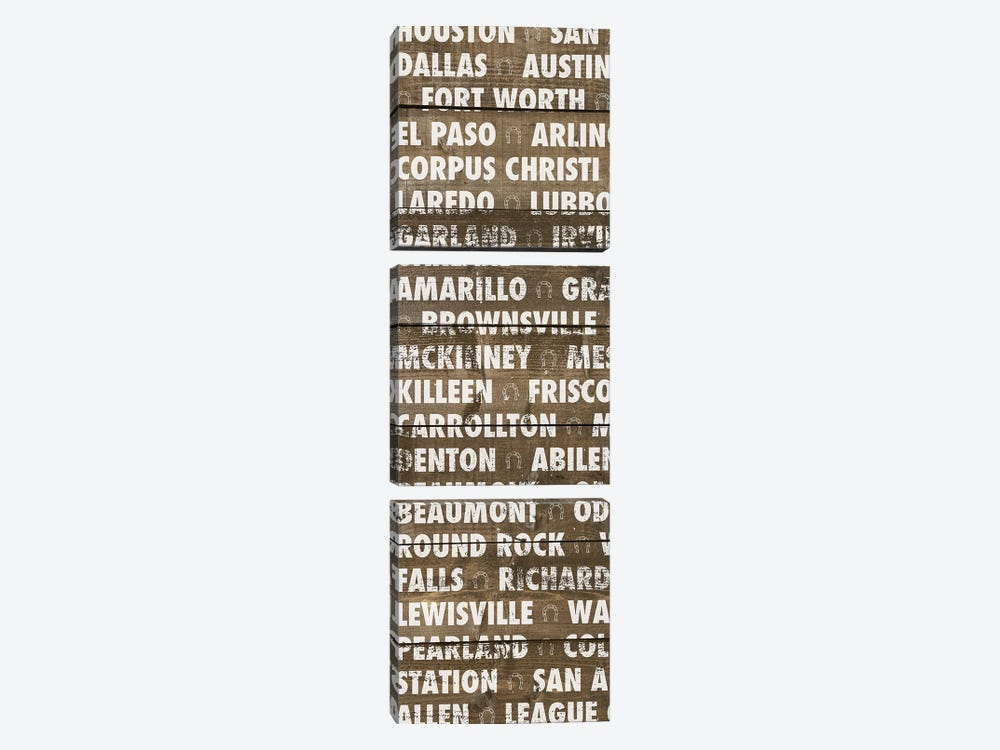 Texas Wood Type by Dan Meneely 3-piece Art Print