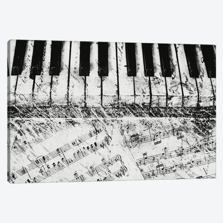 Black & White Piano Keys Canvas Print #DAM65} by Dan Meneely Canvas Wall Art