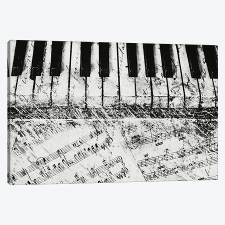 Black & White Piano Keys Canvas Print #DAM65} by Dan Meneely Canvas Wall Art