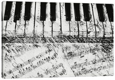 Black & White Piano Keys Canvas Art Print