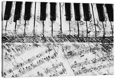 Black & White Piano Keys Canvas Art Print