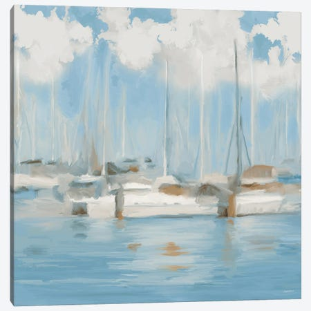 Golf Harbor Boats I 3-Piece Canvas #DAM69} by Dan Meneely Art Print