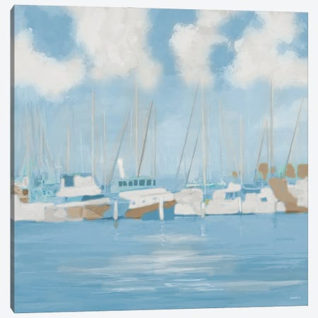 Golf Harbor Boats II Canvas Print #DAM70} by Dan Meneely Canvas Wall Art