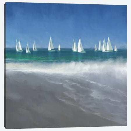 Harbor Sailing Canvas Print #DAM71} by Dan Meneely Canvas Artwork