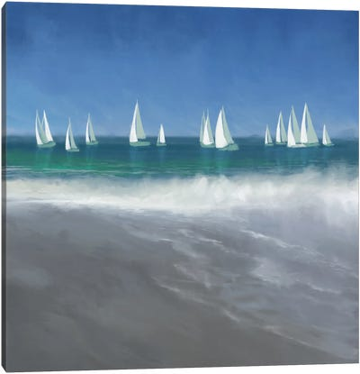 Harbor Sailing Canvas Art Print