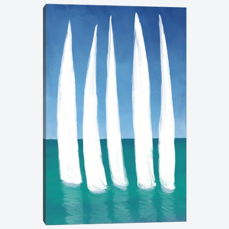 Tall Sailing Boats Canvas Print #DAM73} by Dan Meneely Canvas Art